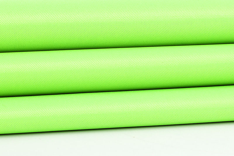 Green 210D waterproof silver coating fabric