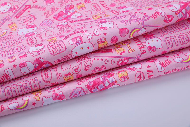 190T digital printing pongee-Hello Kitty